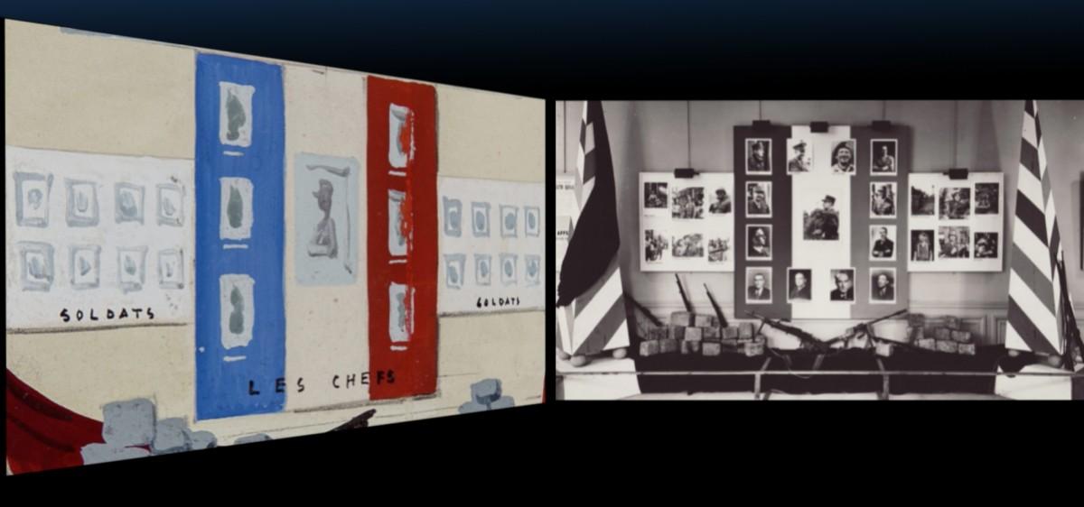 Musée Carnavalet, Installatation - projection 4 écrans sur la Libération de Paris