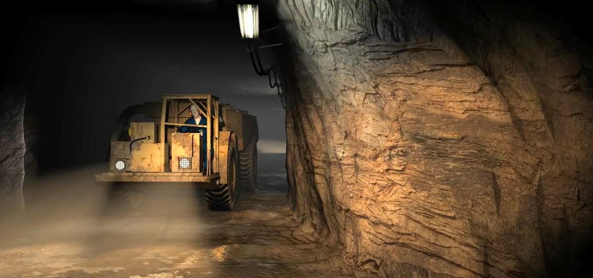 Animation 3D : descente dans la mine
