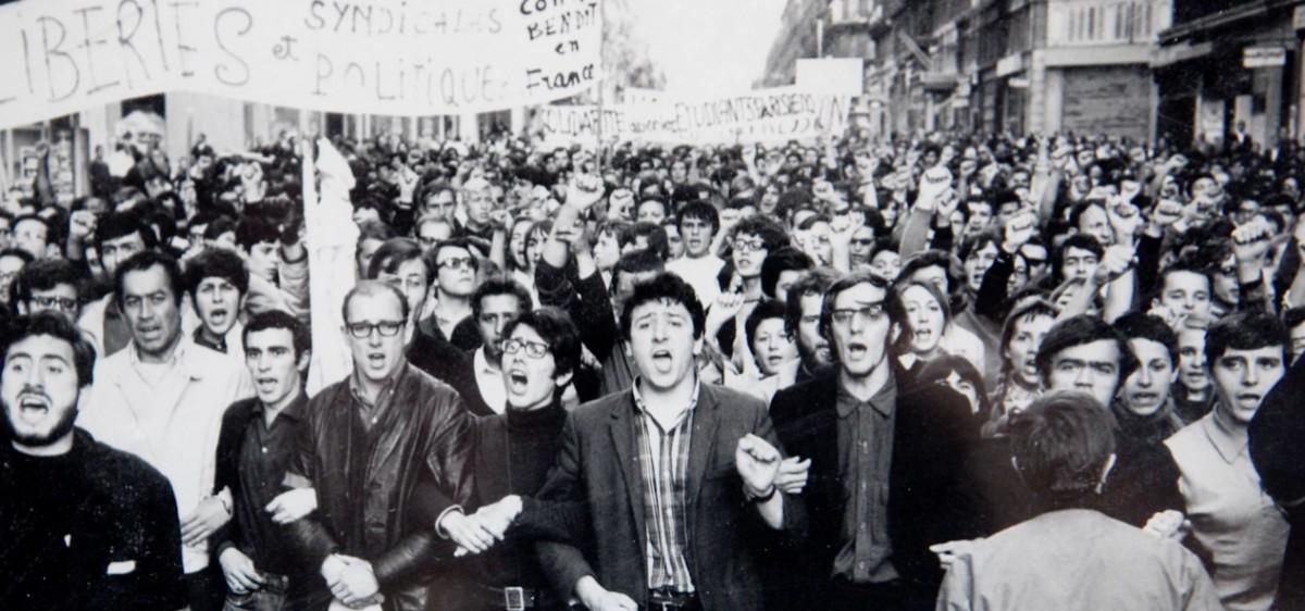 Manifestation à Marseille en mai 68