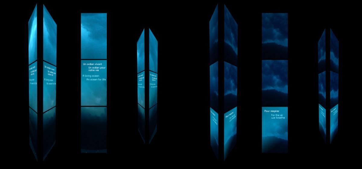 NAUSICAÀ, Multi-ecran spectaculaire et interactif